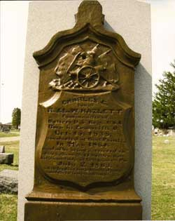Grave marker at Woodlawn Cemetery in Zanesville, Ohio